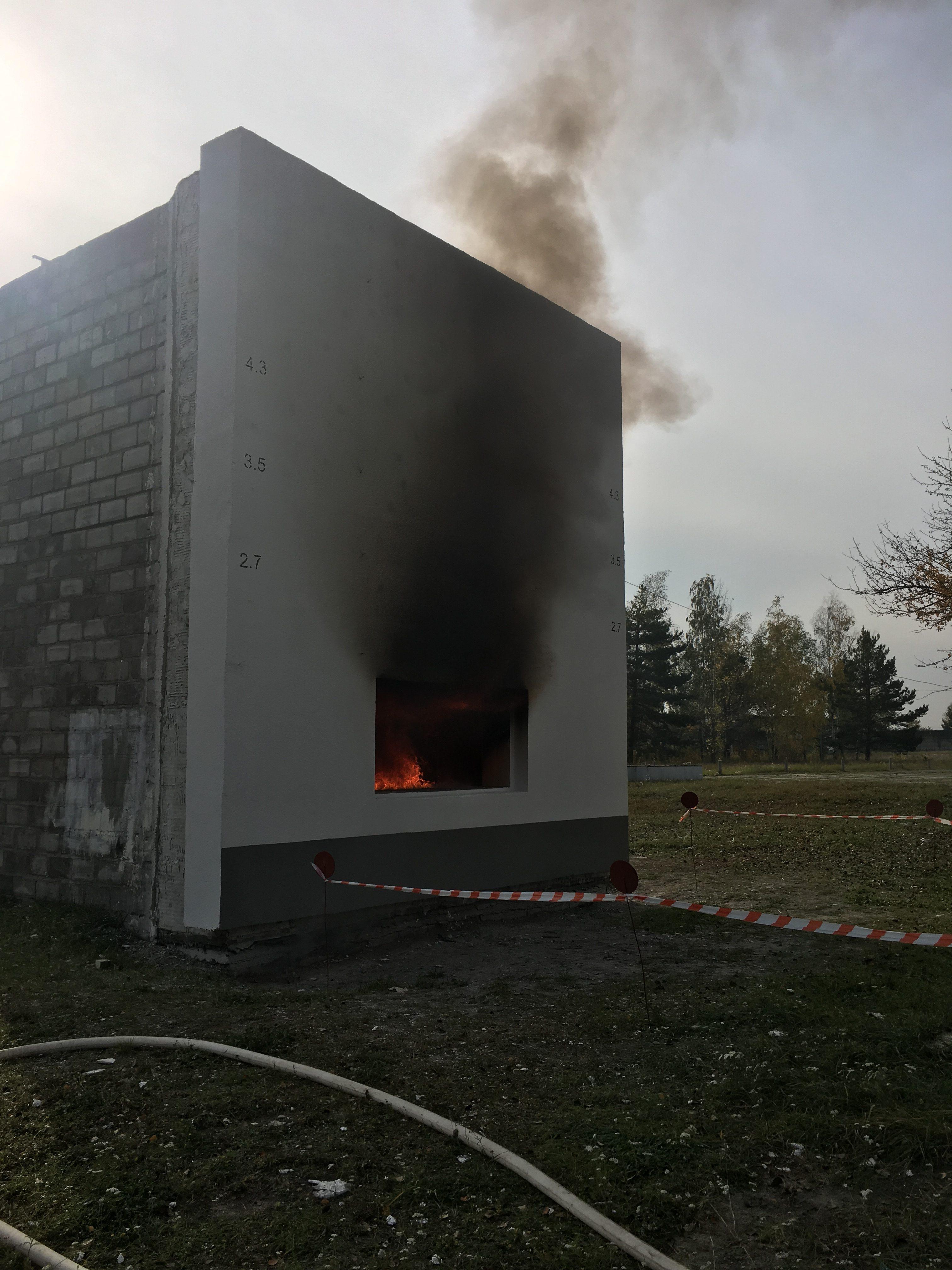 Пожарные испытания ТМ Caparol